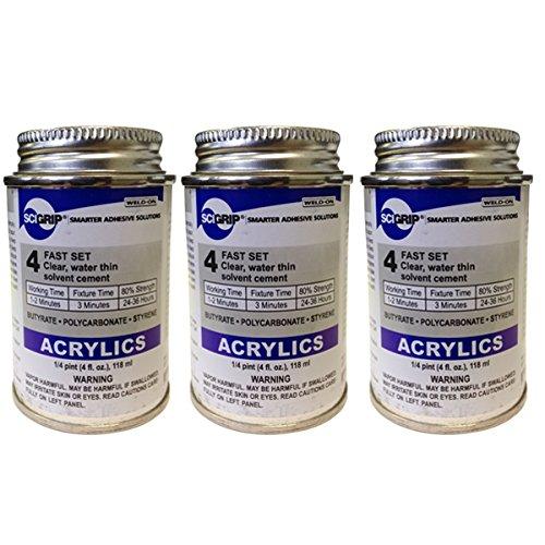 [해외]용접 온 4 아크릴 접착제 - 3 4 오즈 팩/Weld-On 4 Acrylic Adhesive - 4 Oz Pack of 3