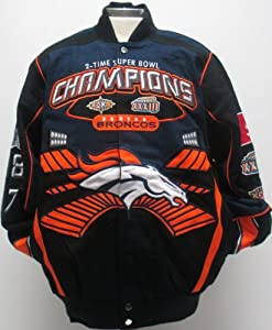 Denver Broncos championship Jacket by MTC Marketing, Inc