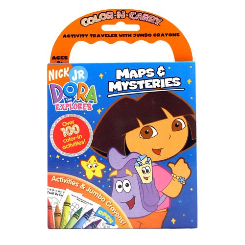 Dora the Explorer Color-N-Carry Actvity Traveler with Jumbo Crayons