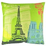 NAVA Nw Cosmo City Paris Eiffel Tower Arc de Triomphe Decor Pillow Case Cushion Cover