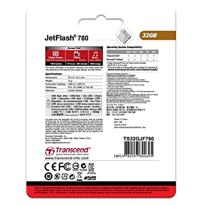 Transcend JetFlash 780 32 GB USB 3.0 Pen Drive (TS32GJF780)