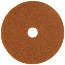 "Glit 13321 TK Polyester Blend Tan Buff Polishing Floor Pad, Synthetic Blend Resin, Talc Grit, 21"" Diameter, 175 to 350 rpm (Case of 5)"