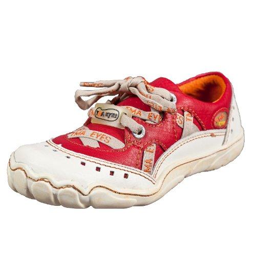 TMA EYES 2509 Schnürer Gr.36-41 mit bequemen perforiertem Fußbett , Leder 39.35 super leichter Schuh der neuen Saison. ATMUNGSAKTIV in Weißrot Gr. 37