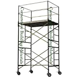 Metaltech SAFERSTACK Complete 2-Section High Tower Scaffolding System, Model# M-MRT5710 (Color: blue, Tamaño: 1)