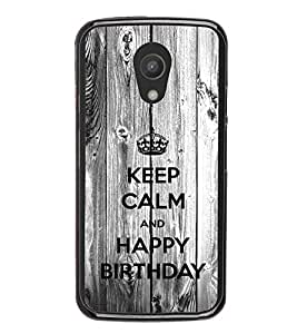iFasho Nice Quote On Keep Calm Back Case Cover for Moto G2