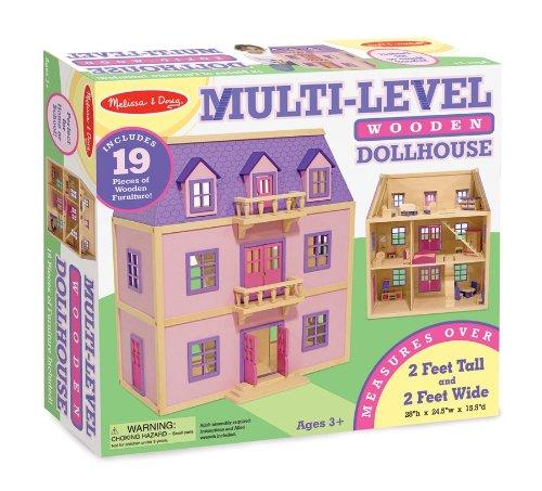 Melissa & Doug Multi-Level Wooden Dollhouse