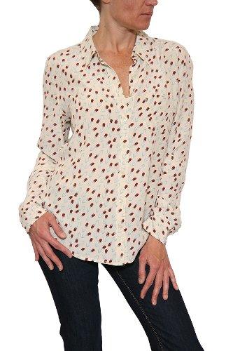 Women's Equipment Femme Brett Rose Print Blouse in Tapioca