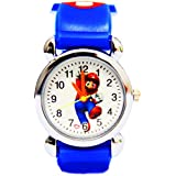 3D cartoon supermario pattern girl's boy's kids wrist quartz watch silicone bands for party
