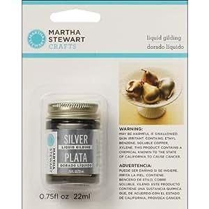 Martha Stewart 32213 0.75-Ounce Liquid Gilding, Silver