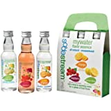 SodaStream My Water Variety All Natural - Unsweetened Soda Mix, includes Lemon Orange Rasberry