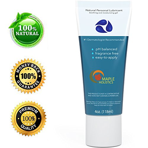 Review Of Natural Personal Lubricant for Sensitive Skin - Women and Men - Water Based Lube with Aloe Vera and Carrageenan - Paraben-free with Squeeze Tube Technology - 4oz - 100% Guaranteed By Maple Holistics