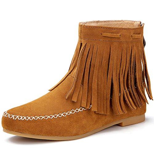 Mesdames bordées de bottes au printemps/Cuir bottines plates/Casual bottes plates avec Martin