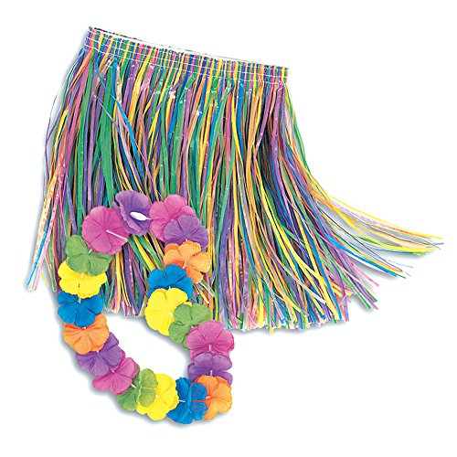 Unique Child Lei & Grass Skirt Hula Set, Multicolor