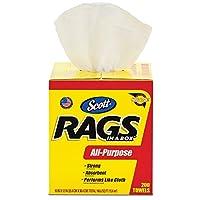 Scott Rags in a Box, All-Purpose (75260) White (Case of 8, 200 Towels per Pop-Up Box)