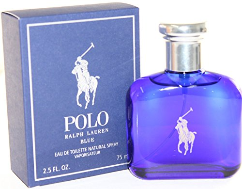 Ralph Lauren Polo Blue Man Eau de Toilette, Uomo, 75 ml