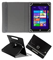 ACM ROTATING 360° LEATHER FLIP CASE FOR NOTION INK CAIN 8 TABLET STAND COVER HOLDER BLACK