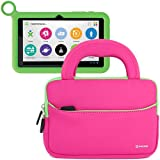 Evecase UltraPortable Handle Carrying Portfolio Neoprene Sleeve Case Bag for OLPC XO 7-inch Kids Tablet XO-780 (Hot Pink)