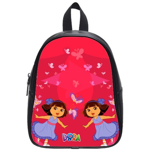 Little Doral Dacing Butterflies Fly In The Background Best Choice For Christmas Gift Custom School Bag Size: Large