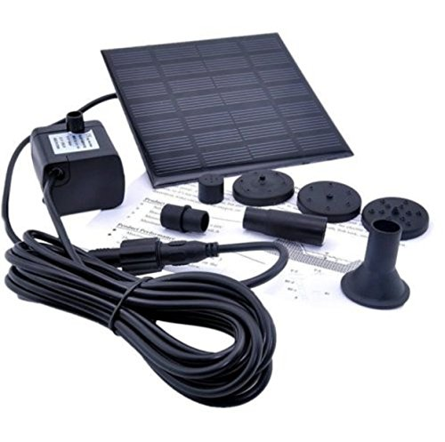 Solar Fountain Pump Battery Auto Pound Powered Submersible Kit GPH Pool Garden (Becket Oil Pump compare prices)