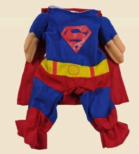 XSMALL Superman Dog Cat Puppy Halloween Costume Clothes Pet Apparel Superdog Dress Up - Pet Supplies by Accessorybee