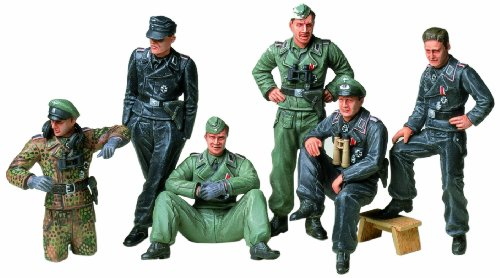 Tamiya Models German Tank Crew at Rest Model Kit - 1