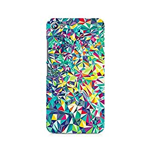 Ebby Crazy Fusion Triangle Premium Printed Case For Micromax Canvas Fire 4 A107
