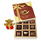 Chocholik Belgium Chocolates - 9pc Special Love Combo Wishes With Small Ganesha Idol - Diwali Gifts