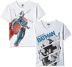 Kidsville Boys' T-Shirt (BM1KB06_Multicolor_9 - 10 years) (Combo Pack -2)