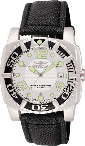 INVICTA ALUMINUM DIVER WATCH SWISS RONDA MOVT WHITE DIAL W/ BLACK 7004