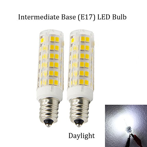 (Pack of 2) Dimmable LED Daylight Bulb with E17 Intermediate Base,120 volt,5000k,550lm,Equivalent 40w to 60 watt Incandescent,Replaces T7/T8/S11 Light Bulb (Appliance Led Bulb Intermediate compare prices)