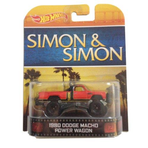 1980 Dodge Macho Power Wagon SIMON & SIMON Hot Wheels 1:64 Retro Entertainment Die Cast
