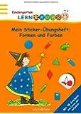 Lernraupe - Mein Sticker-Übungsheft Formen und Farben: mit 48 Stickern zum Lösen der Aufgaben (Kindergarten-Lernraupe)