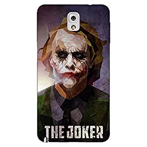 Jugaaduu Villain Joker Back Cover Case For Samsung Galaxy Note 3 N9000