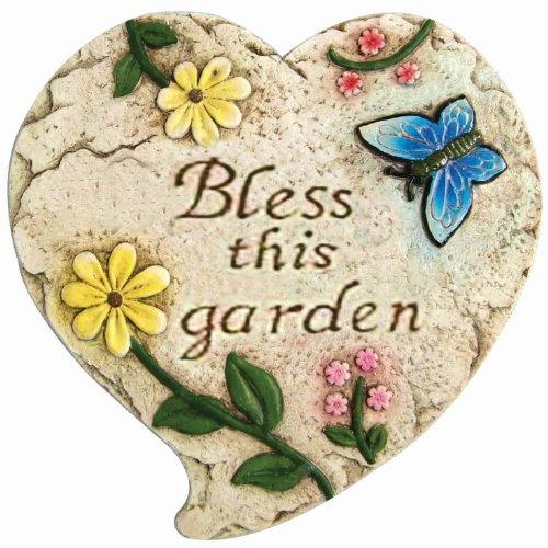 Garden odyssey poyyh477c bless this garden decorative for Decorative garden stones