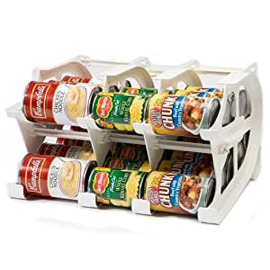FIFO Mini Can Tracker- Food Storage Canned Foods Organizer/Rotater/Dispenser: Kitchen, Cupboard, Pantry- Rotate Up To 30 Cans