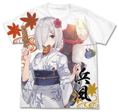 艦隊これくしょん -艦これ- 浴衣の浜風 フルグラフィックTシャツ ホワイト XLサイズ