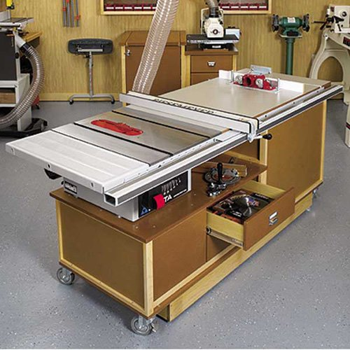 Mobile Sawing & Routing Center: Downloadable Woodworking Plan mobile work center