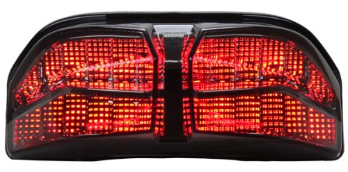 2011-2013 Yamaha Fz8 Integrated Sequential Led Tail Lights Smoked Lens
