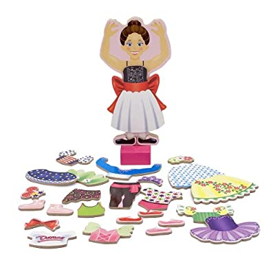 Nina Ballerina Magnetic Dress Up Playset