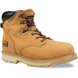 Timberland Men\'s PRO Pit Boss Work Boot Steel Toe Wheat 12 EE 12 EE US