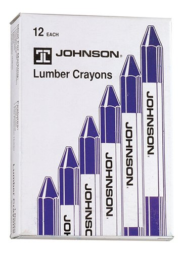 Johnson Level & Tool Lumber Crayons, Blue, 12-Pack #3512-B