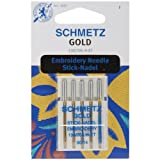 Gold Embroidery Machine Needles Size 1490 5Pkg