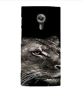 PrintVisa Animal Tiger Design 3D Hard Polycarbonate Designer Back Case Cover for Alcatel Onetouch Flash 2