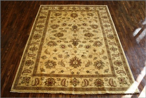 6x9 Beige/Brown Hand Woven Traditional Chobi Rug