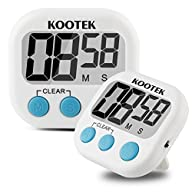 Digital Kitchen Timer 2 Pack Kootek�…