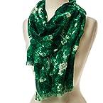 Green Watercolor Scarf