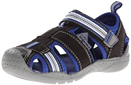 pediped Flex Sahara Sandal (Toddler/Little Kid),Black King/Blue,20 EU (5 M US Toddler)