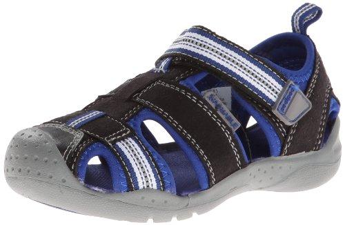 Pediped Sahara Sandal (Toddler/Little Kid),Black King/Blue,22 Eu (6-6.5 M Us Toddler) front-976906