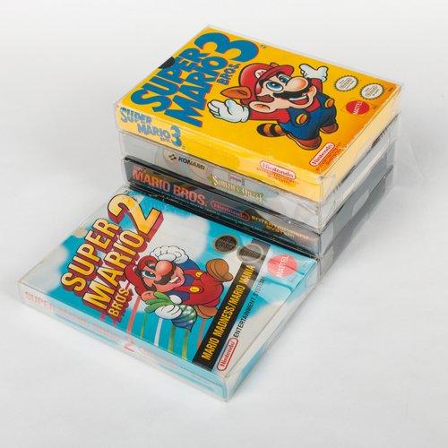 50 Mario Retro Nintendo NES BOX Protectors (Clear Plastic) - 8-Bit Box Video Game Display Case - 50 Scratch Resistant Boxes for Super Mario Bros., Final Fantasy - Scratch Resistant (Top Gear Super Nintendo Games compare prices)