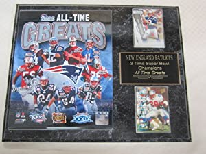 New England Patriots All Time Greats 2 Card Collector Plaque w 8x10 Photo by New England